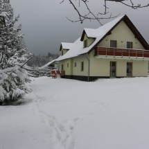 Penzion U Barana v zimě